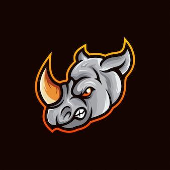 Wektor logo nosorożca