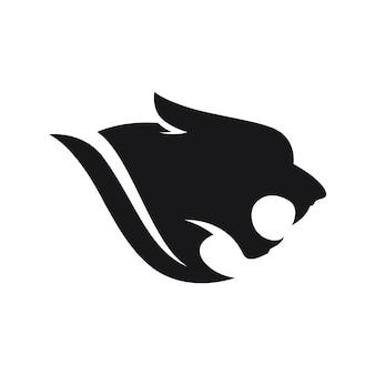 Wektor logo pantera na białym tle