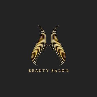 Wektor logo projekt salonu piękności