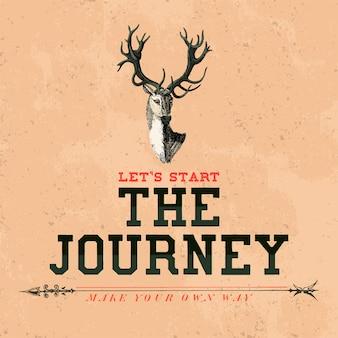 Wektor logo projektu podróży