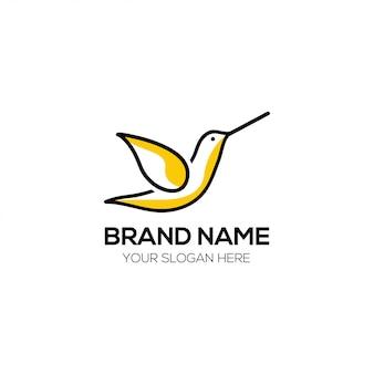 Wektor logo projektu ptaka