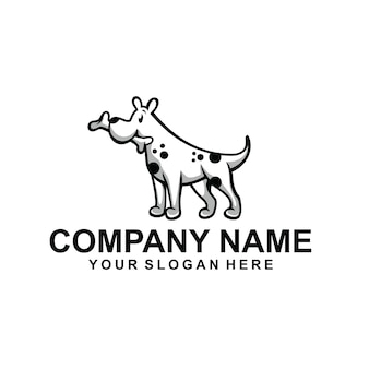Wektor logo psa zwierząt