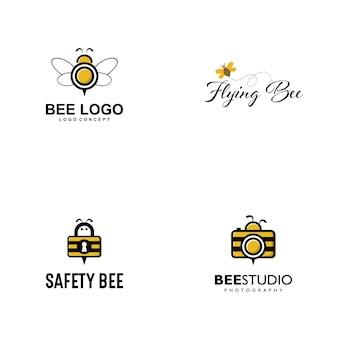 Wektor logo pszczoła