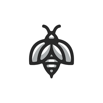 Wektor logo pszczoły