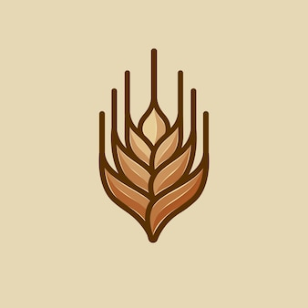 Wektor logo pszenicy