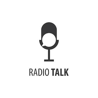 Wektor logo rozmowy radiowej