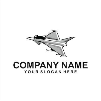 Wektor logo samolotu odrzutowego