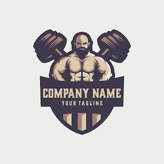 Wektor logo siłowni