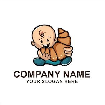 Wektor logo słodkie dziecko