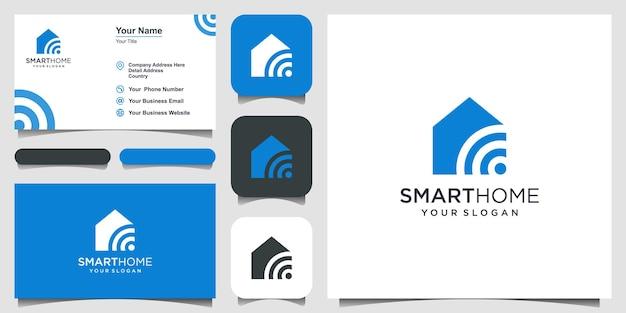 Wektor logo smart home tech. projekt logo, ikona i wizytówka