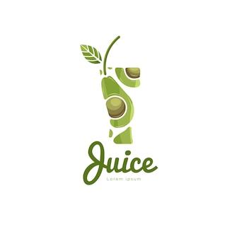 Wektor logo sok z awokado
