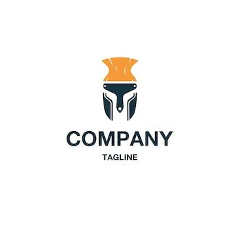 Wektor logo spartan farby