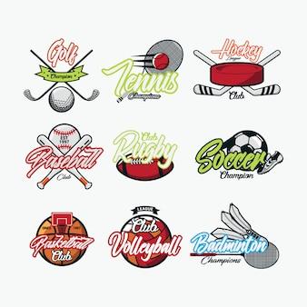 Wektor logo sportu międzynarodowego