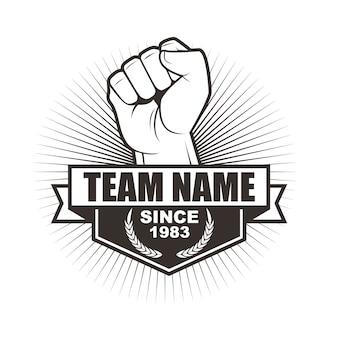 Wektor logo szablon projektu dla zespołu lub klubu