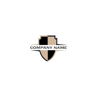 Wektor logo tarczy, szablon logo emblemat tarczy, ikona logo-wektor