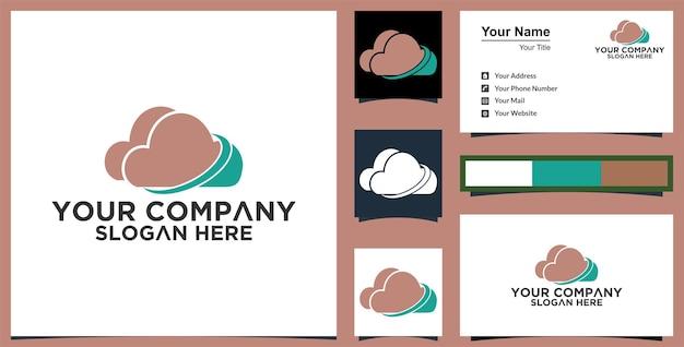 Wektor logo technologii chmury i wizytówka