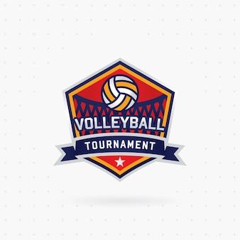 Wektor logo turnieju siatkówki z piłką