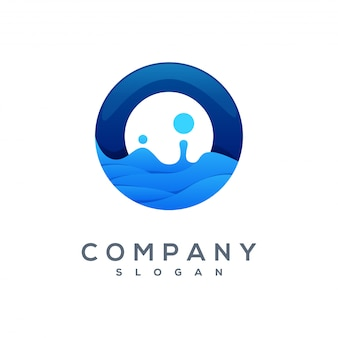 Wektor logo wave gotowy do użycia