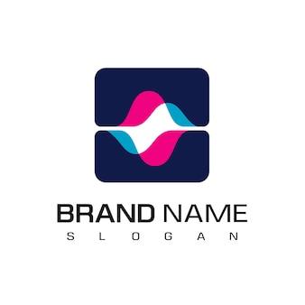 Wektor logo widma, na białym tle