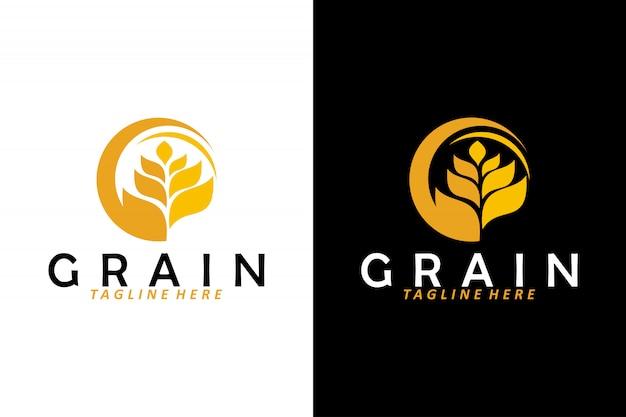 Wektor logo ziarna pszenicy na białym tle