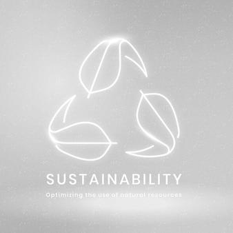 Wektor logo zrównoważonego rozwoju środowiska z tekstem