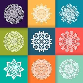 Wektor mandala okrągłe ozdoba w stylu etnicznym rysować ręcznie
