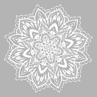 Wektor mandali. mandala z etnicznym ornamentem
