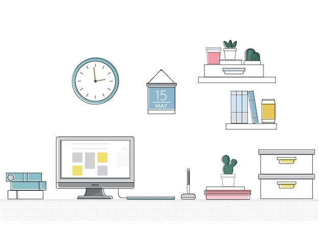 Wektor materiałów biurowych
