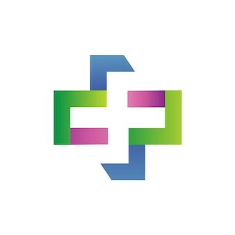 Wektor medyczny plus logo