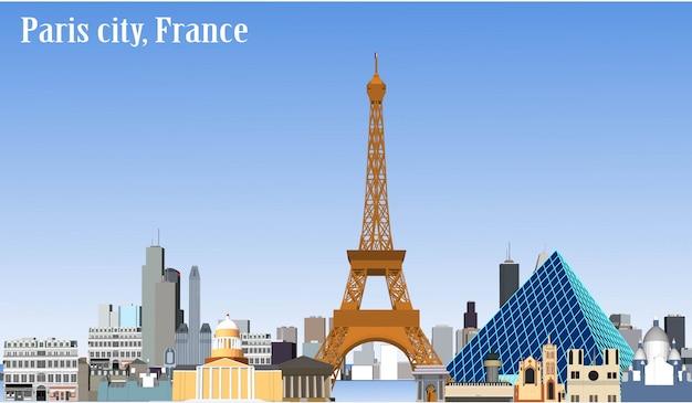 Wektor miasta paryż francja