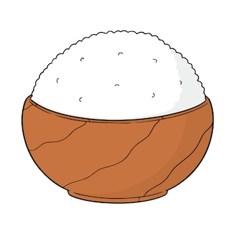 Wektor miska ryżu
