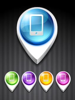Wektor mobilnych ikonę sztuki projektowania