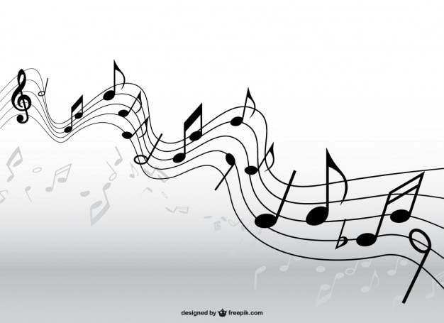 Wektor muzyka pentagram