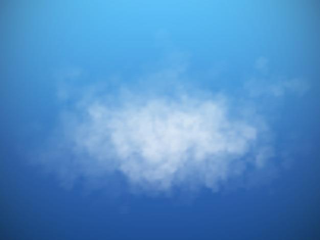 Wektor na białym tle chmury lub dymu.