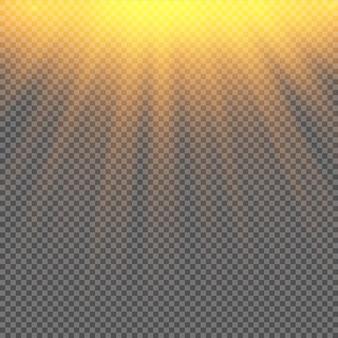 Wektor na białym tle reflektor. efekt świetlny