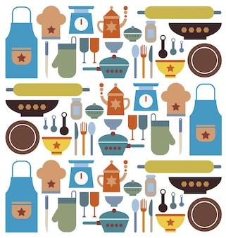 Wektor narzędzi piekarniczych.