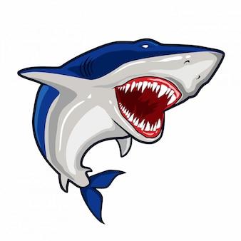 Wektor niebieski rekin