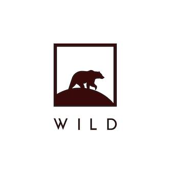 Wektor niedźwiedź logo