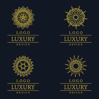 Wektor niesamowite luksusowe wzory logo