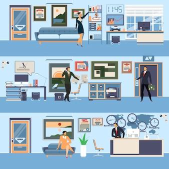 Wektor nowoczesne biuro obszaru roboczego w stylu płaski