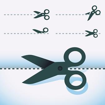 Wektor nożyczki - zestaw elementów projektu