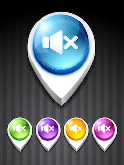 Wektor objętość wyciszenie ikona design art
