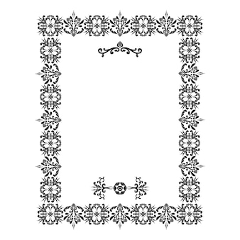 Wektor obramowania dekoracyjne elementy kwiatowe do projektowania dekoracja strony grafika cyfrowa