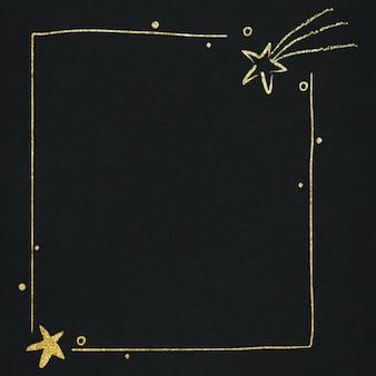 Wektor obramowanie gwiazdy przestrzeni dla dzieci