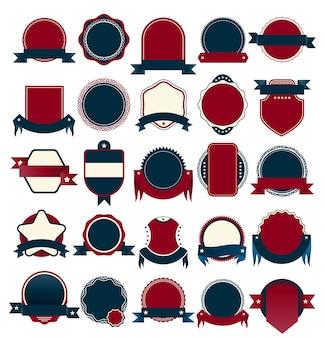 Wektor odznaka kolekcja na sprzedaż i gwarancji tag.