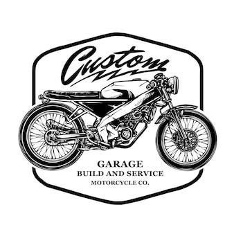 Wektor odznaka vintage motocykl niestandardowy