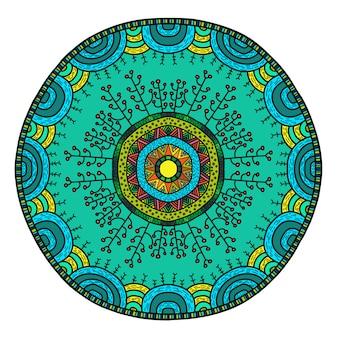Wektor okrągłej mandali w dziecinnym stylu.