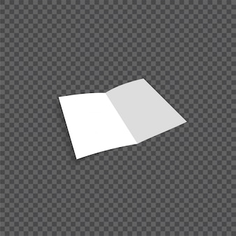 Wektor otwarte puste ulotki składane papieru