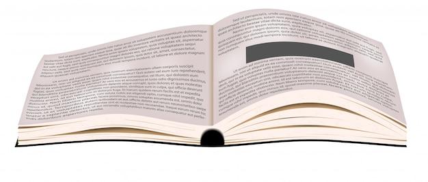 Wektor otwórz książkę. podręcznik biznesowy.