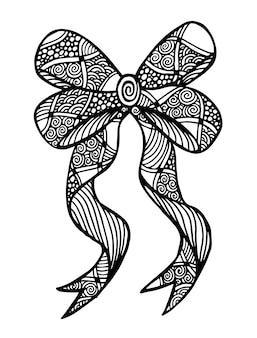 Wektor ozdobny monochromatyczny wstążka z wzorem.